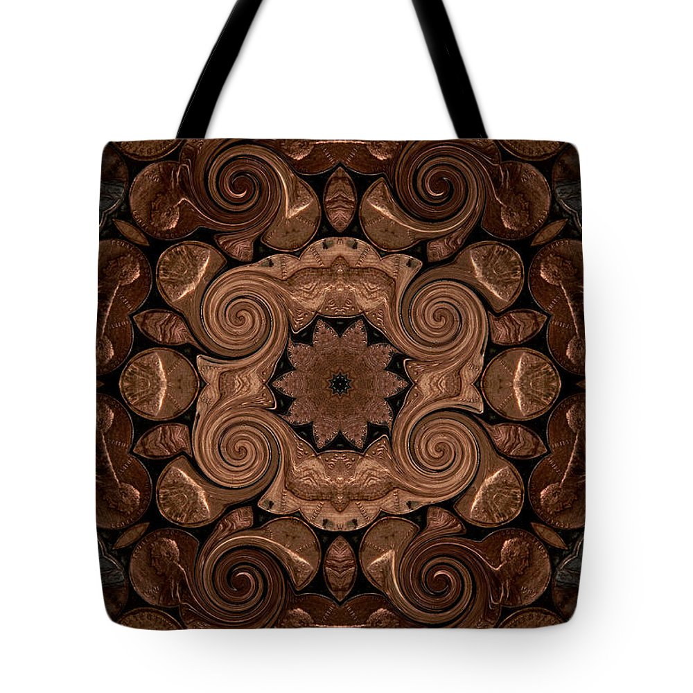 Pennies Tote Bag featuring the photograph Pennies From Heaven by Michael Damiani