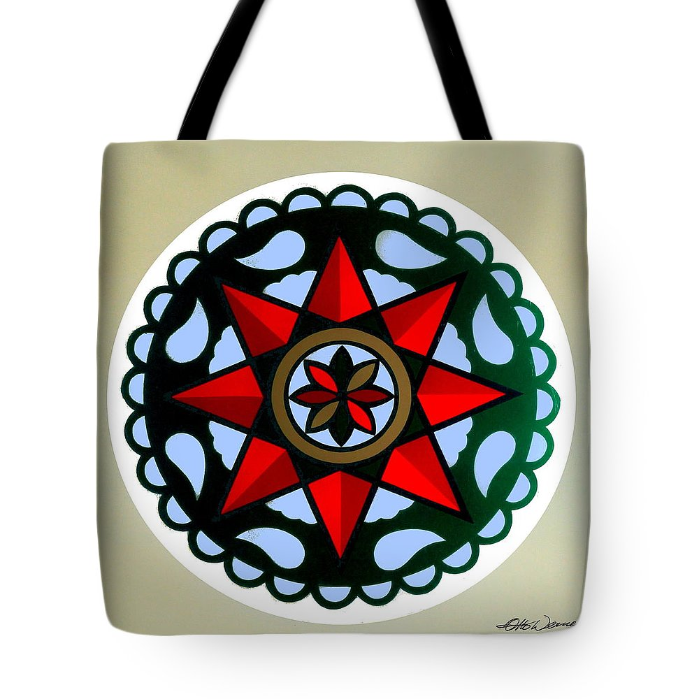 Pennsylvania dutch hex 1 tote bag for sale by hanne lore koehler folk art tote bag featuring the painting pennsylvania dutch hex 1 by hanne lore koehler biocorpaavc Images