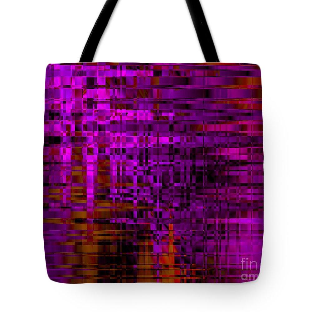 Deep Purple Tote Bag featuring the digital art Pensive by Kristi Kruse