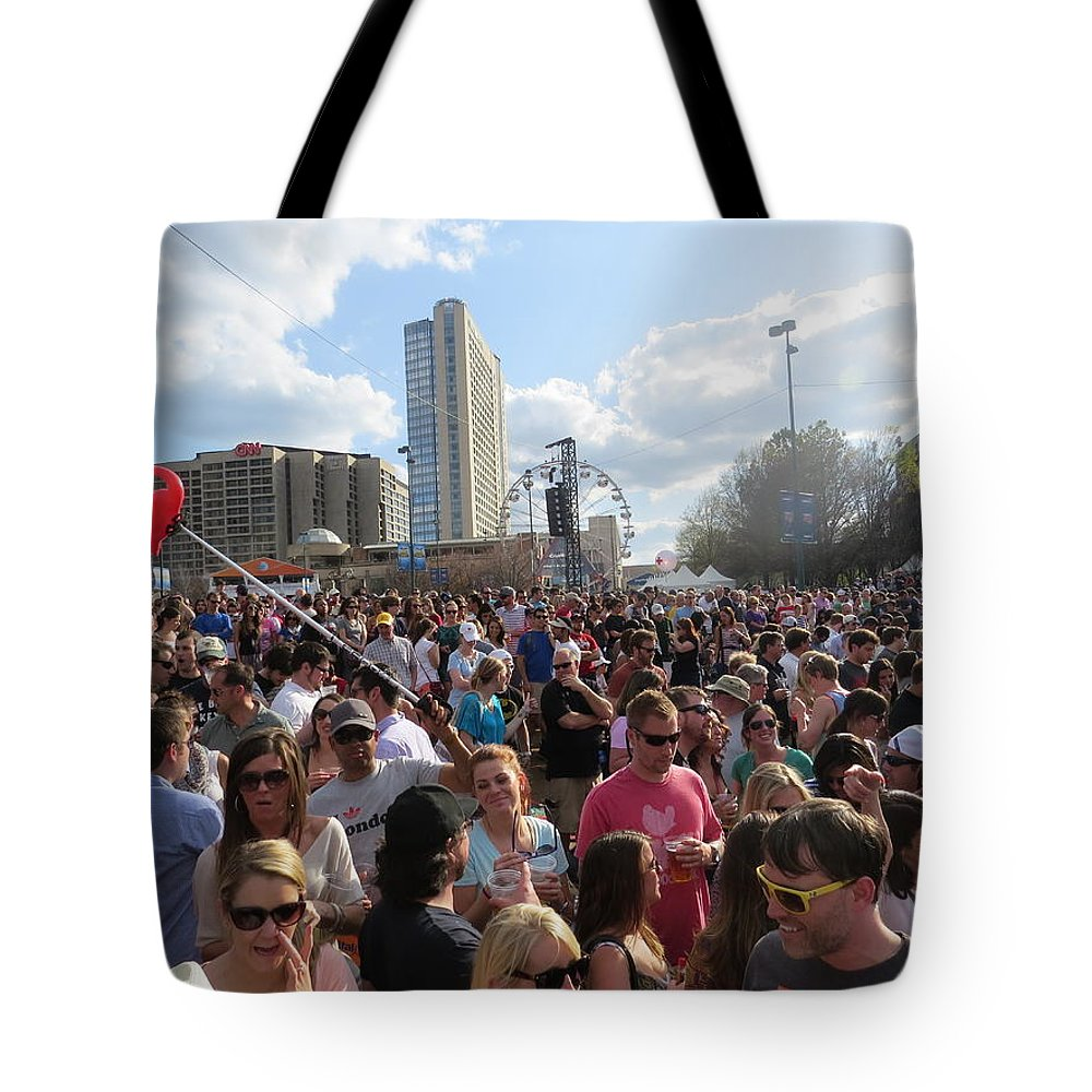 Finalfour Tote Bag featuring the photograph People As Far As The Eye Can See by Aaron Martens
