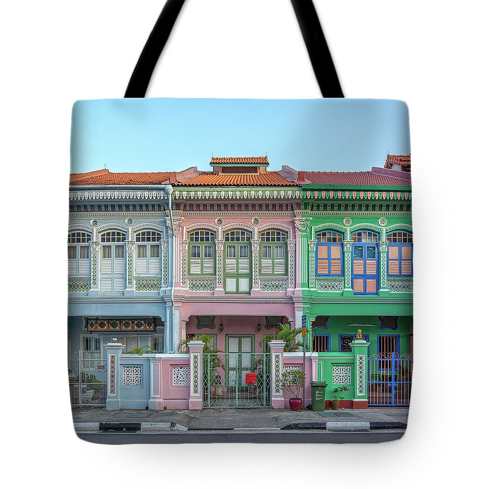 Tranquility Tote Bag featuring the photograph Peranakan Architecture by Edward Tian