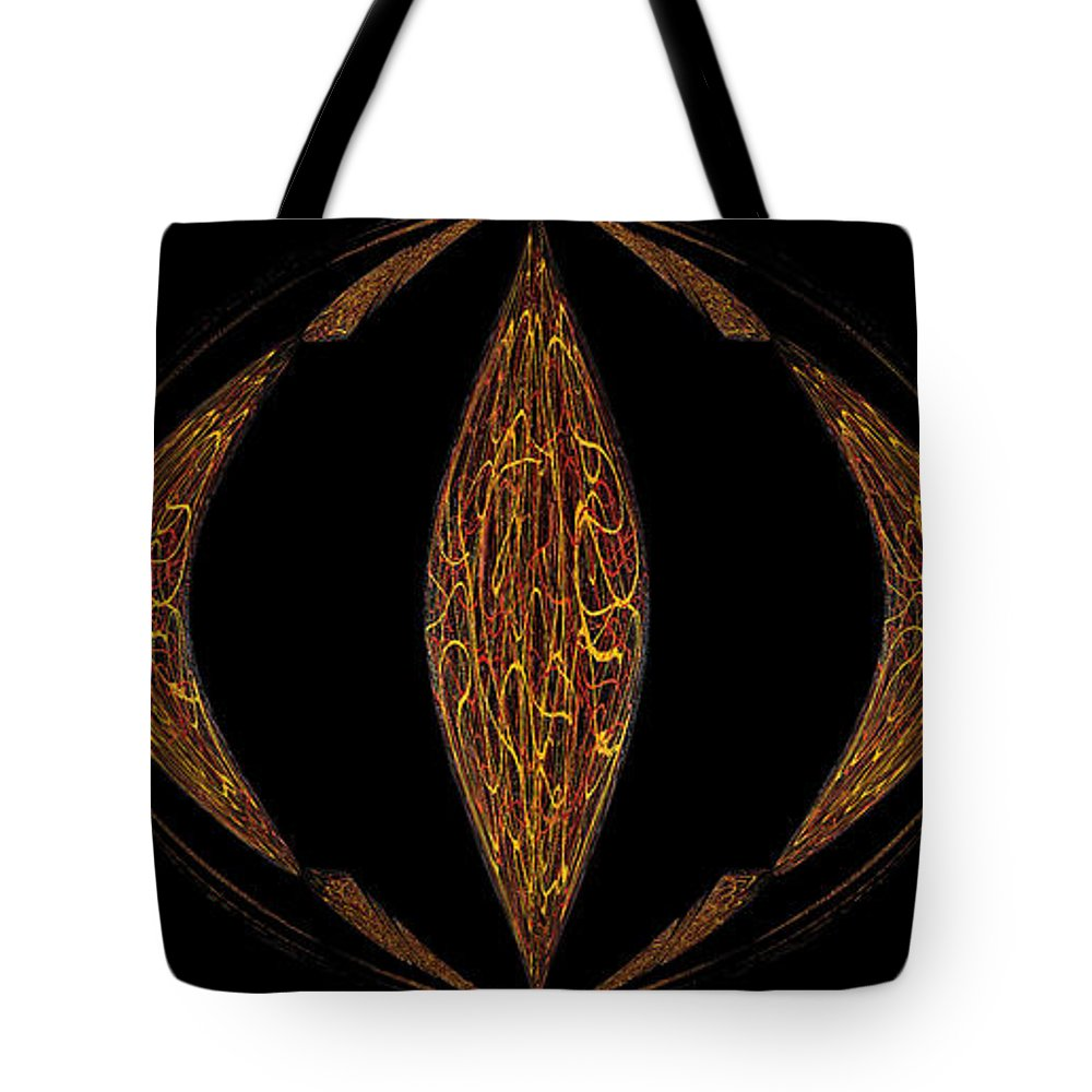 Black Tote Bag featuring the painting Perception Of The Eye by Alli Cullimore
