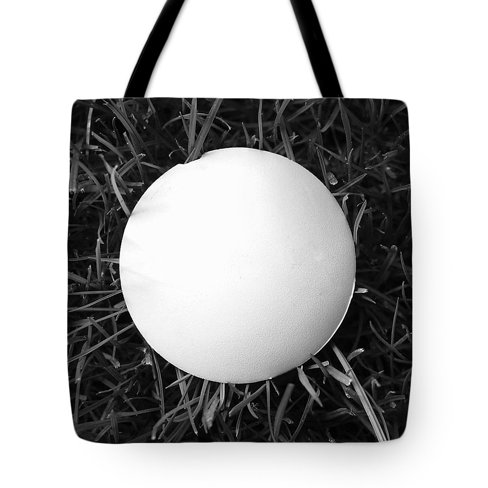 B&w Tote Bag featuring the photograph Perfect Mushroom by Jeff Brunton