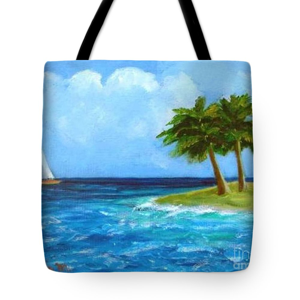 Boats Tote Bag featuring the painting Perfect Sailing Day by Laurie Morgan