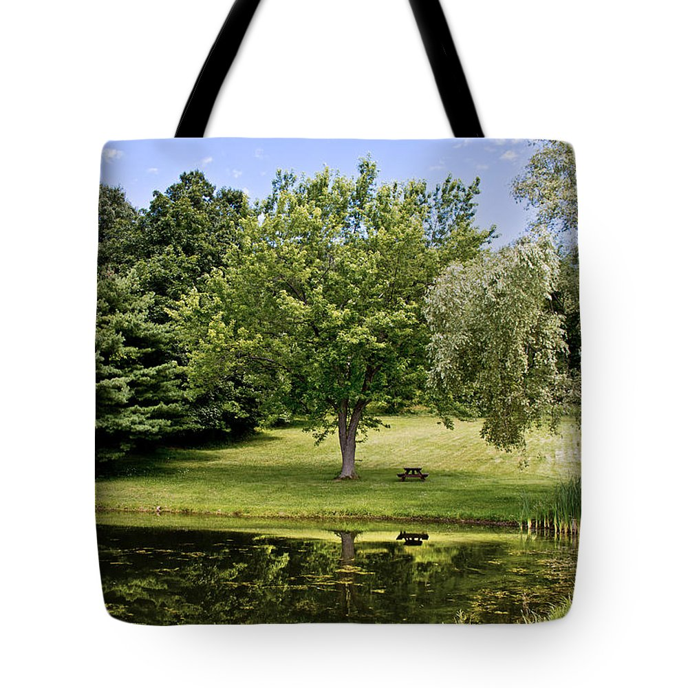Summer Tote Bag featuring the photograph Perfect Spot For A Picnic by Tom Gari Gallery-Three-Photography