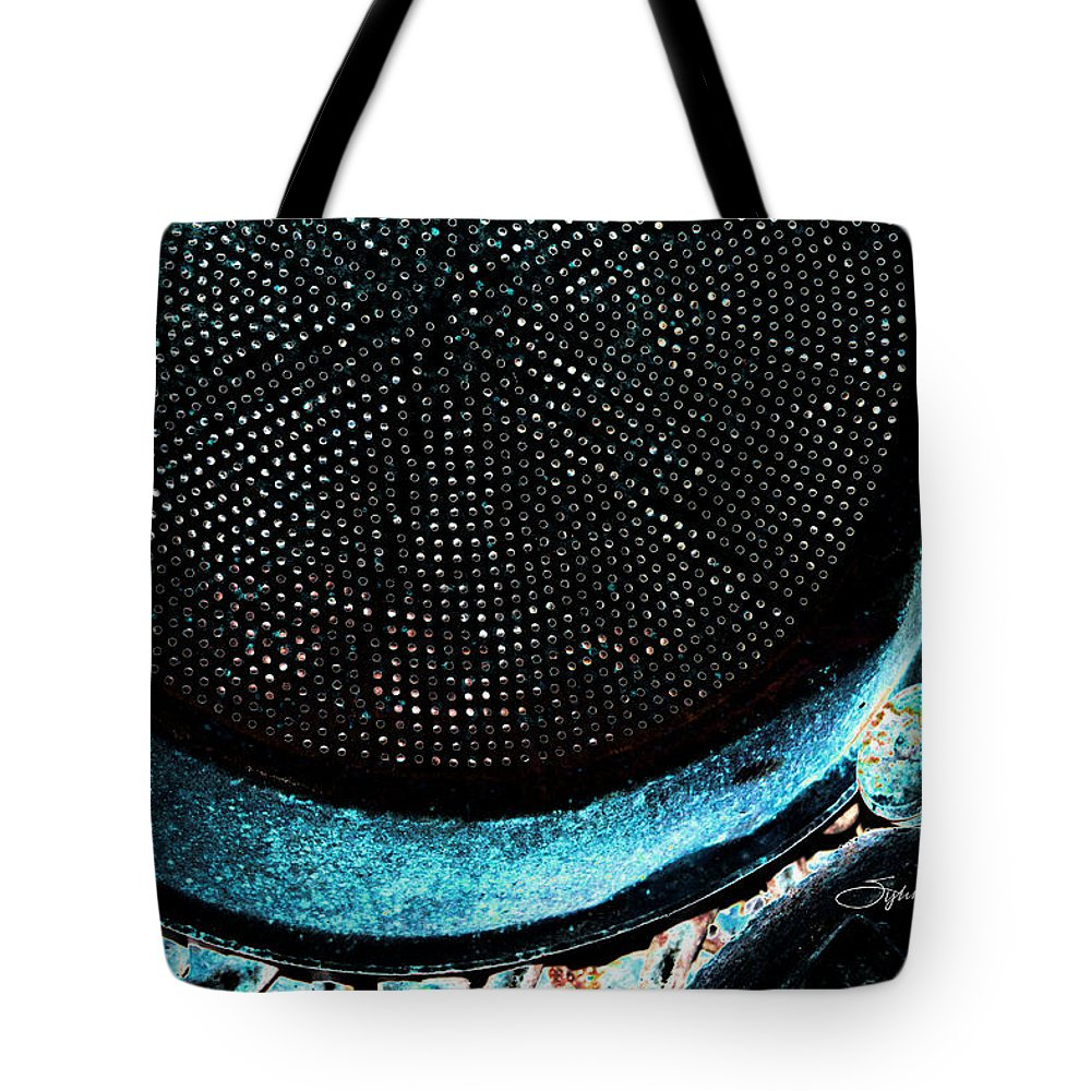 Abstract Art Tote Bag featuring the photograph Perforated I by Sylvia Thornton