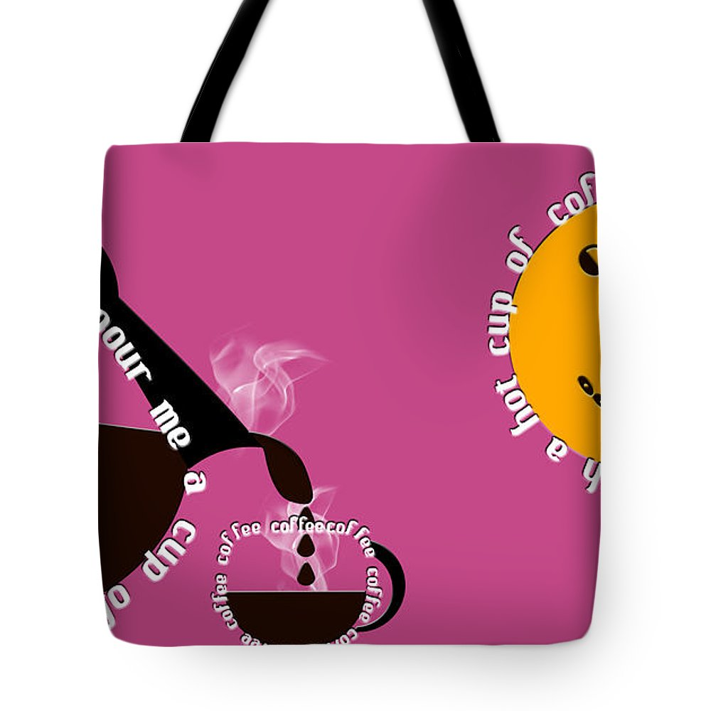 Coffee Tote Bag featuring the digital art Perk Up With A Cup Of Coffee 10 by Andee Design