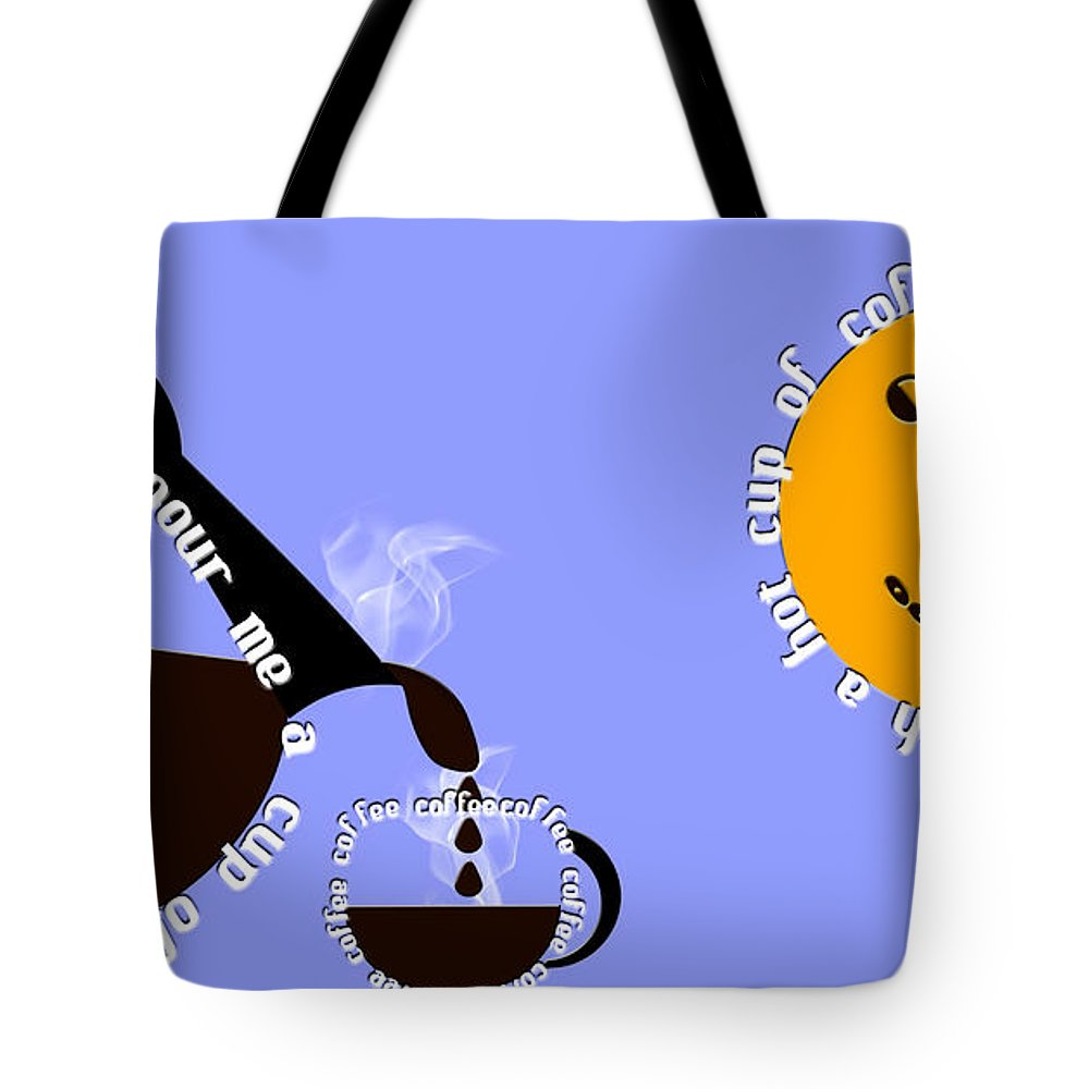 Coffee Tote Bag featuring the digital art Perk Up With A Cup Of Coffee 11 by Andee Design