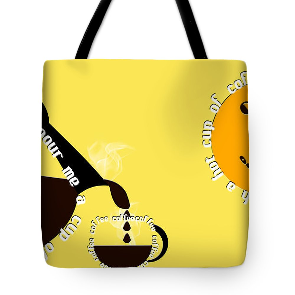 Coffee Tote Bag featuring the digital art Perk Up With A Cup Of Coffee 13 by Andee Design