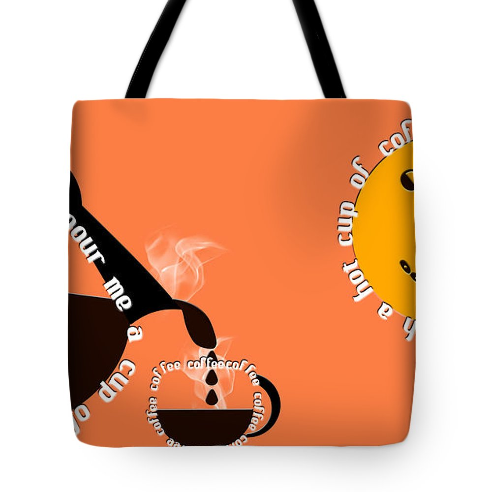 Coffee Tote Bag featuring the digital art Perk Up With A Cup Of Coffee 14 by Andee Design