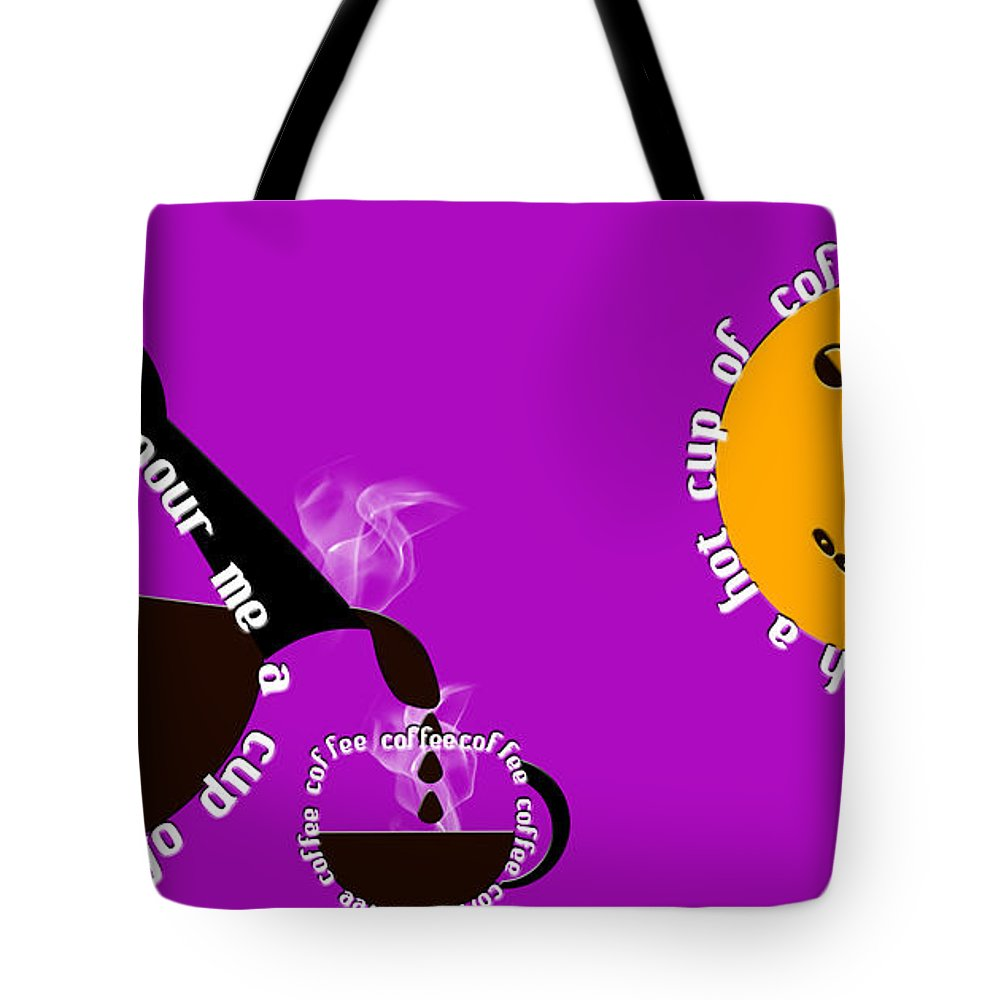 Coffee Tote Bag featuring the digital art Perk Up With A Cup Of Coffee 8 by Andee Design