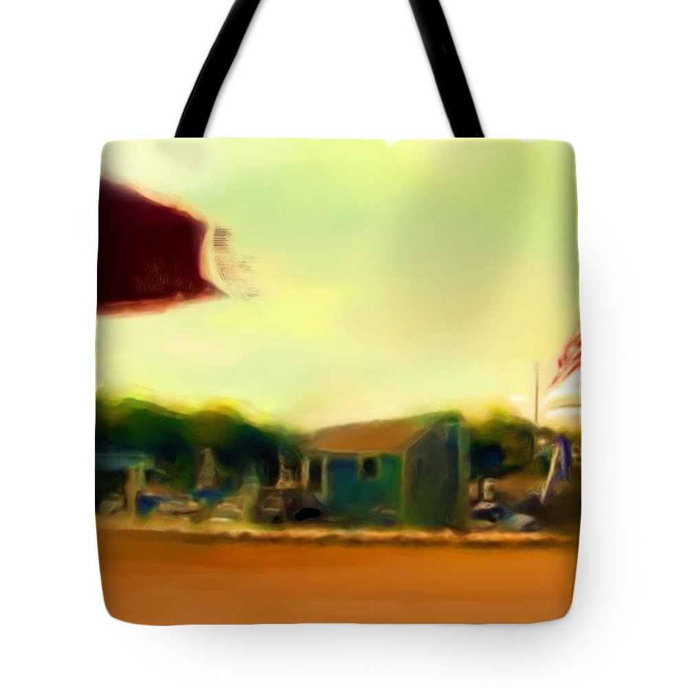 Fineartamerica.com Tote Bag featuring the painting Perkin's Cove - Ogunquit Me - Number 4 by Diane Strain