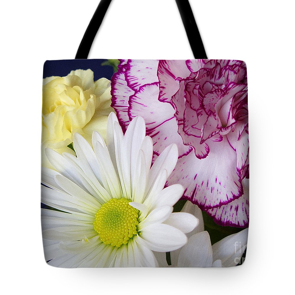 Flower Tote Bag featuring the photograph Perky Posies by Ann Horn