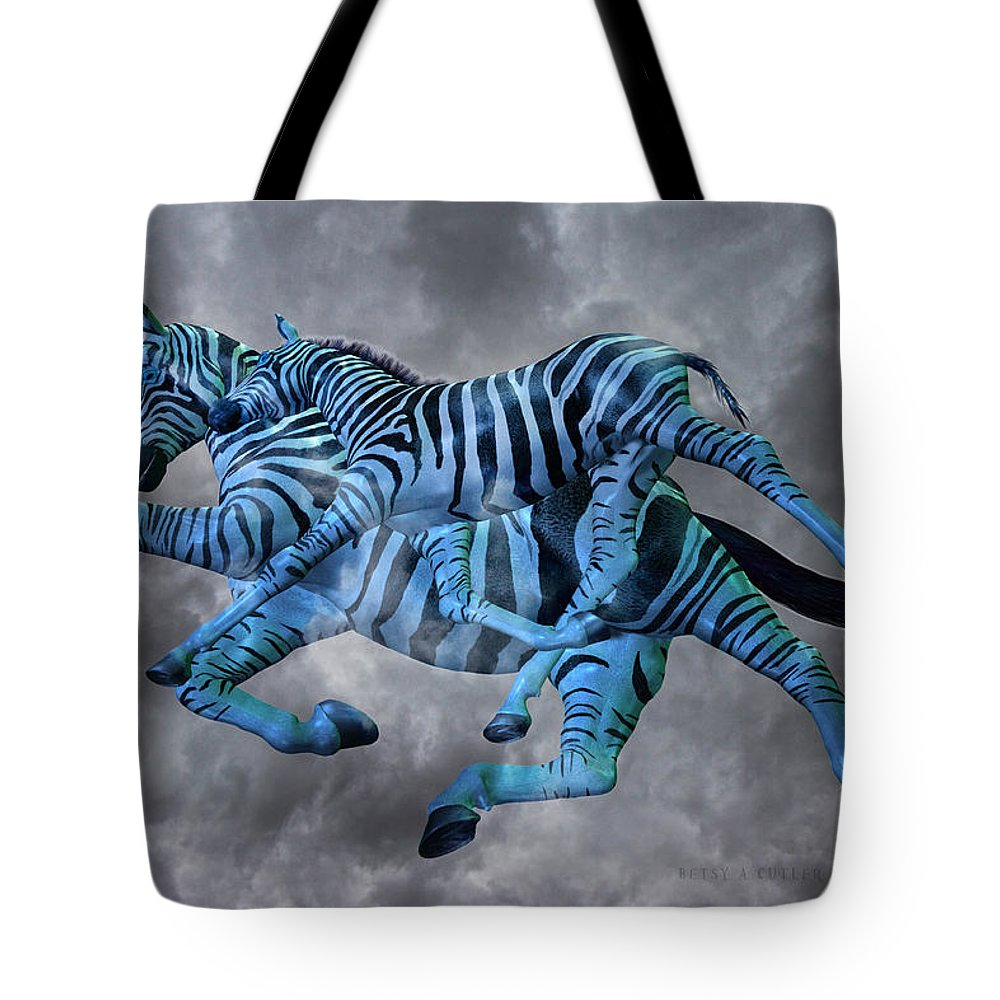 Mare Mixed Media Tote Bags