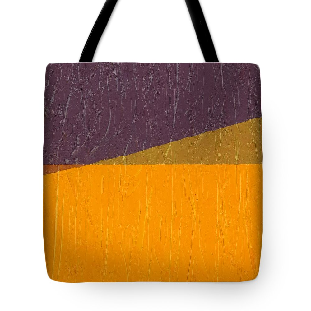 Abstract Tote Bag featuring the painting Perspective In Color Collage 11 by Michelle Calkins