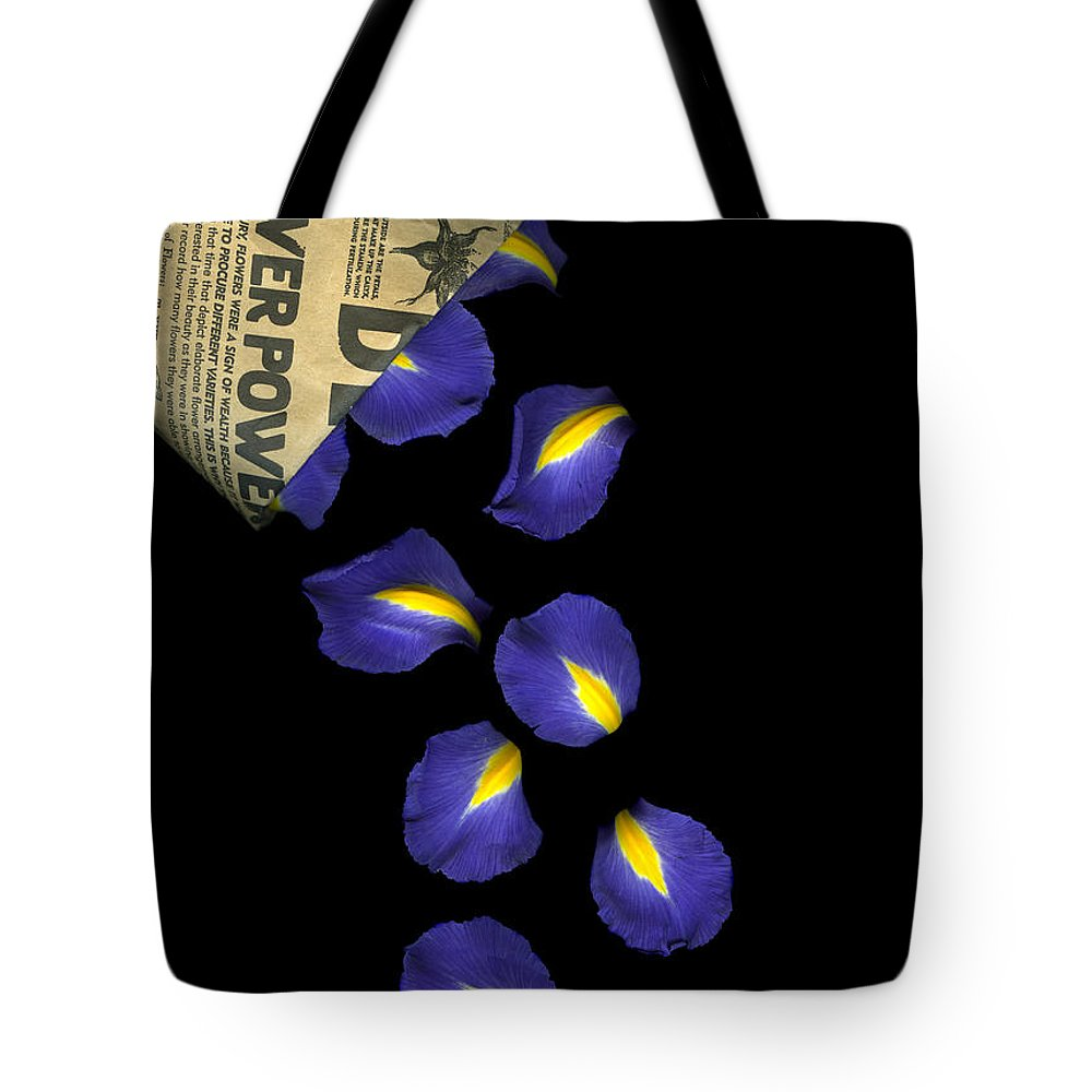 Scanography Tote Bag featuring the photograph Petal Chips by Christian Slanec