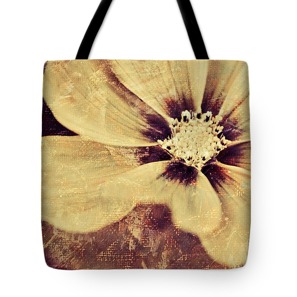 Yellow Tote Bag featuring the photograph Petaline - T37d03a3 by Variance Collections