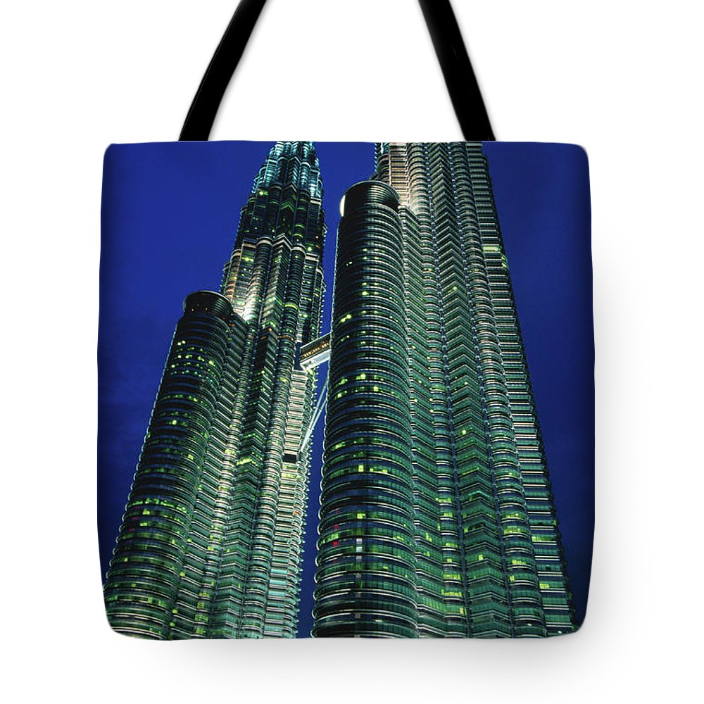 Southeast Asia Tote Bag featuring the photograph Petronas Towers by John Elk