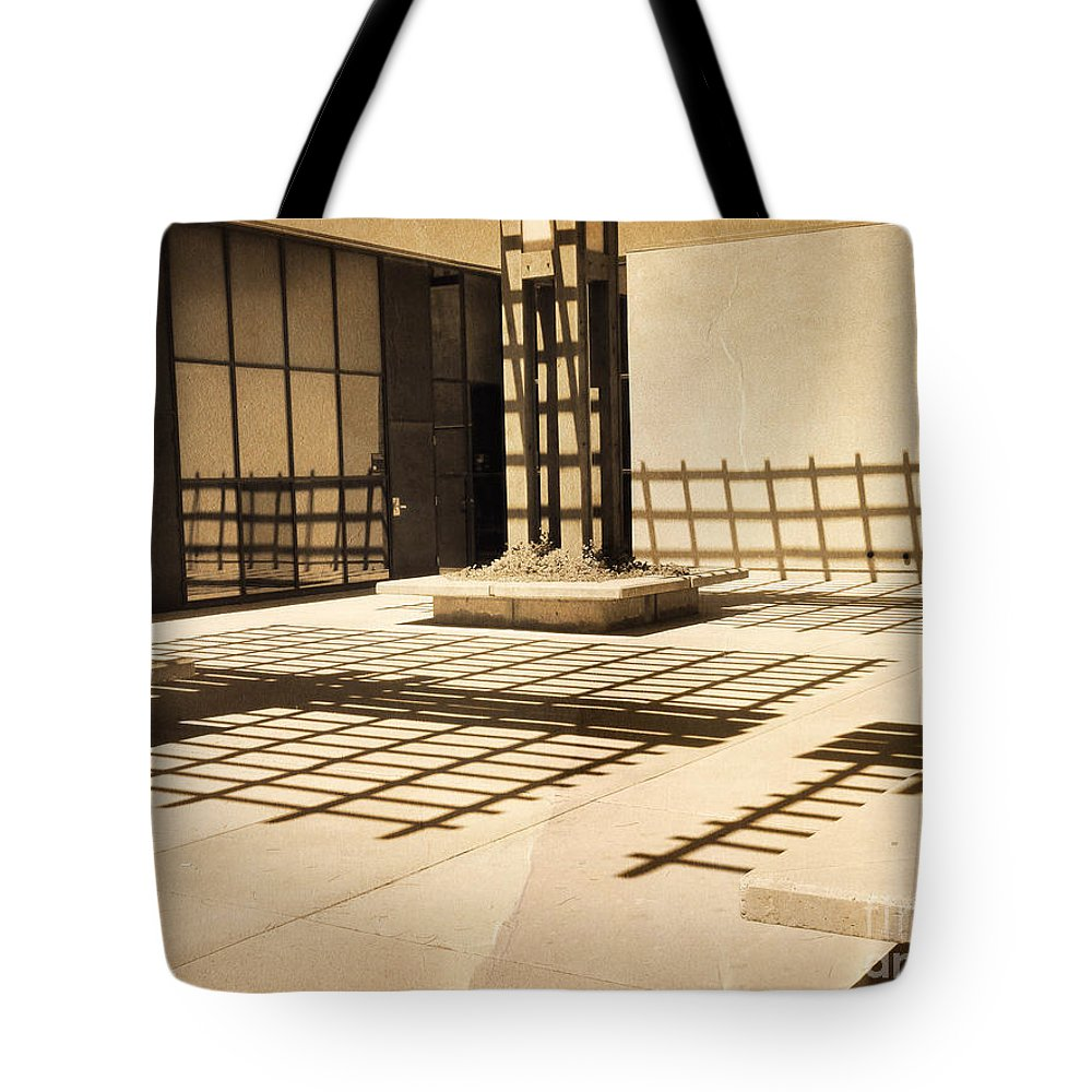 Shadows Tote Bag featuring the photograph Phantom Fences2 by Meghan at FireBonnet Art