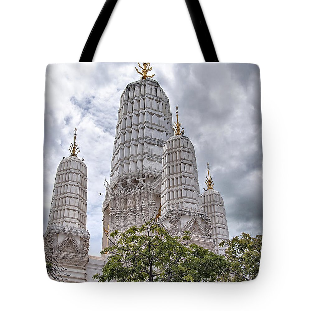 Phetchaburi Tote Bag featuring the photograph Phetchaburi Temple 17 by Antony McAulay