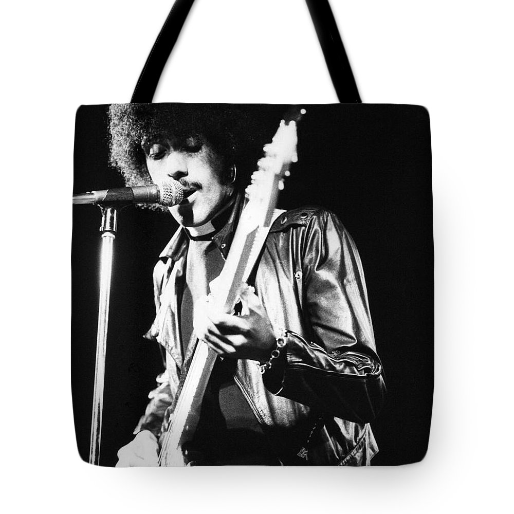 Phil Tote Bag featuring the photograph Phil Lynott by David Fowler