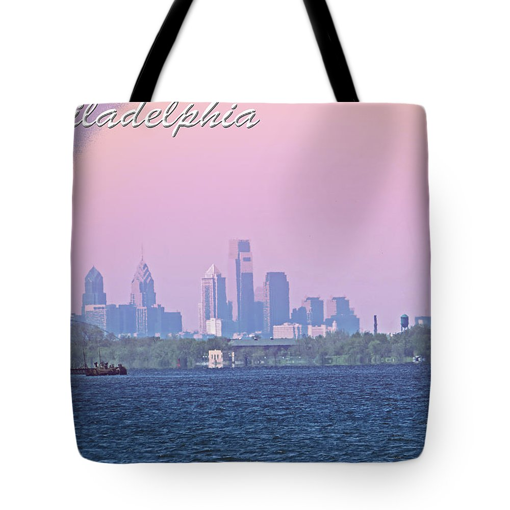 Philadelphia Tote Bag featuring the photograph Philadelphia by Tom Gari Gallery-Three-Photography
