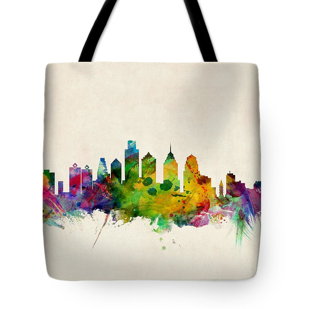 Philadelphia Skyline Tote Bags