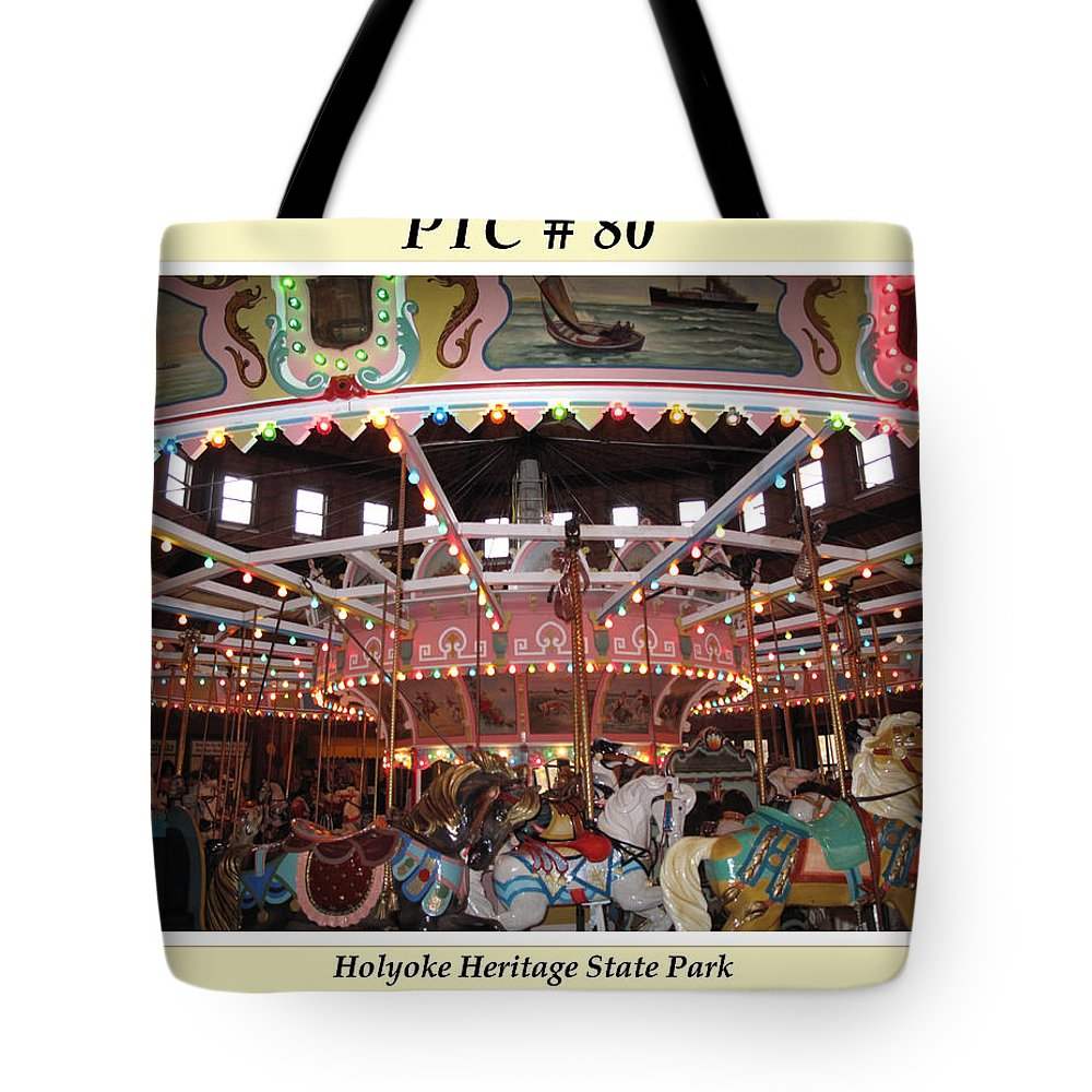 Ptc Tote Bag featuring the photograph Philadelphia Toboggan Company Carousel by Barbara McDevitt