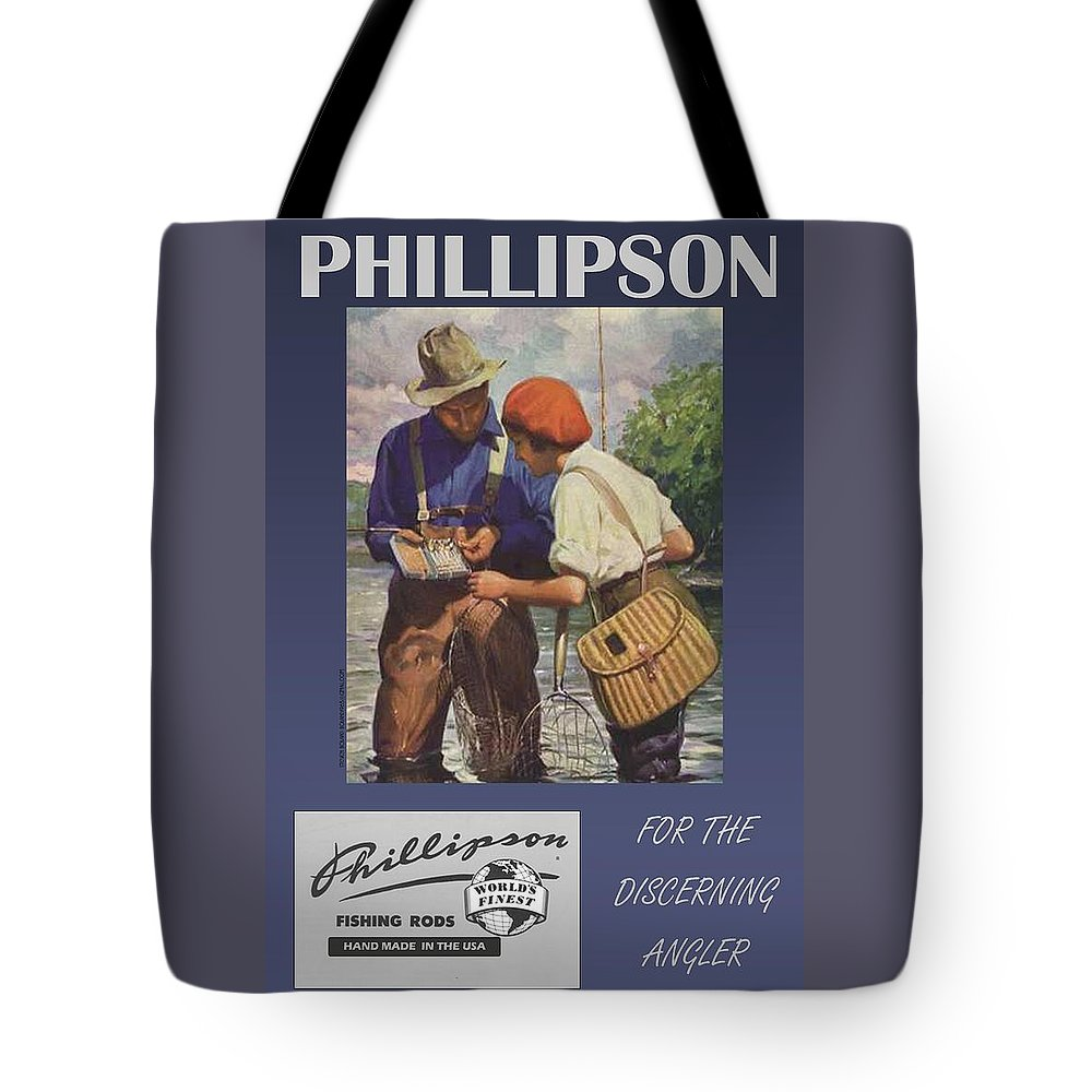 For The Angler Tote Bag featuring the digital art Phillipson by Steven Boland