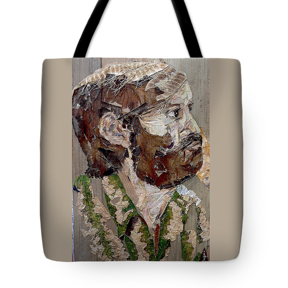 Portrait Tote Bag featuring the mixed media Philospher's Vision by Basant Soni