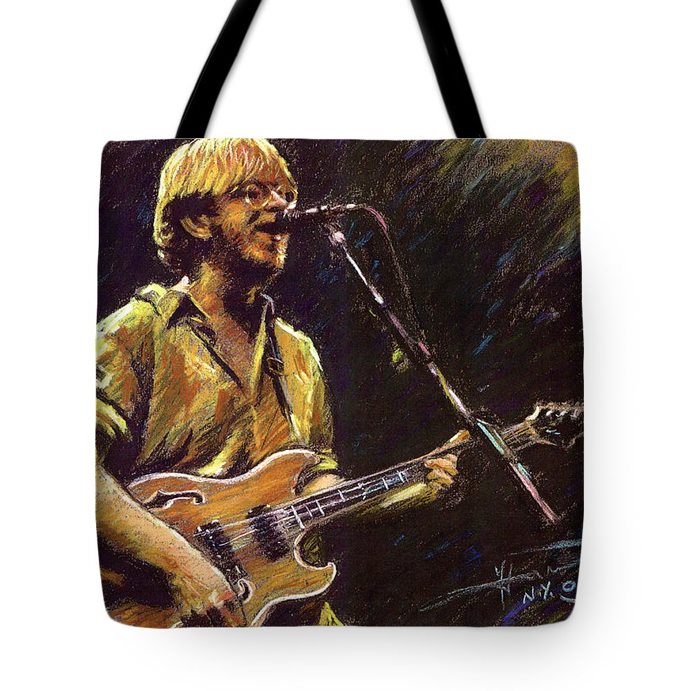 Star Rock And Roll Tote Bags