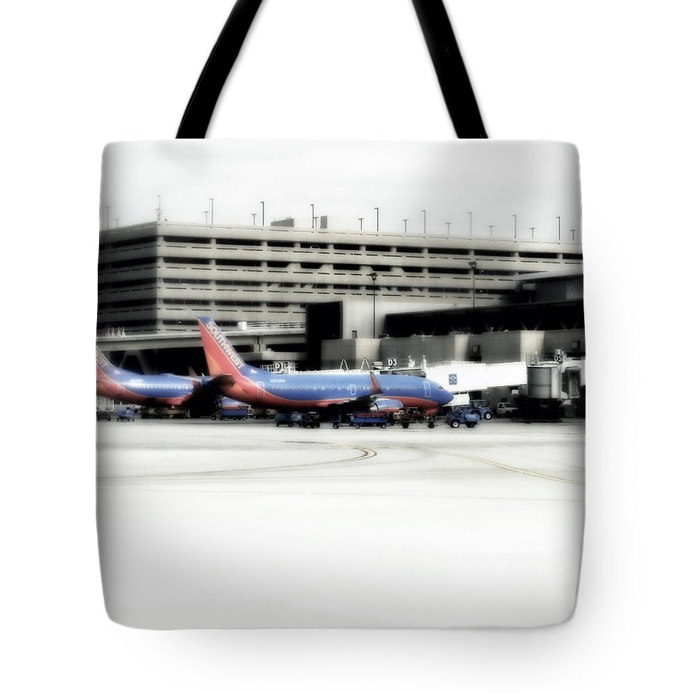 Phoenix Tote Bag featuring the photograph Phoenix Az Southwest Planes by Thomas Woolworth