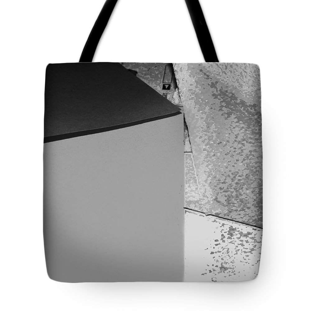Abstract Tote Bag featuring the photograph Photo Sketch Abstract 3 - The Paper Series by Lenore Senior