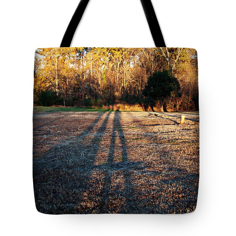 Art Tote Bag featuring the photograph Photographer Shadow by Paulette B Wright