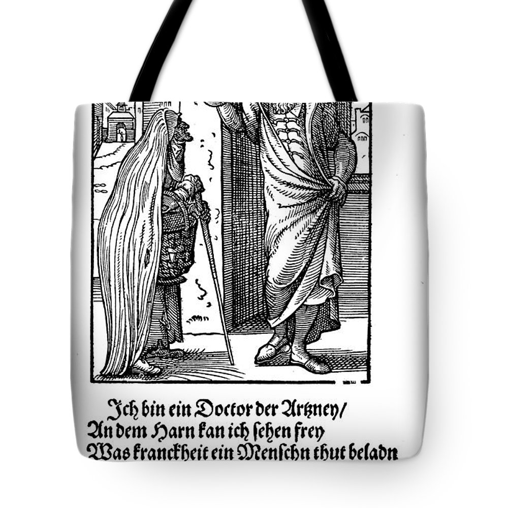 1568 Tote Bag featuring the photograph Physician, 1568 by Granger