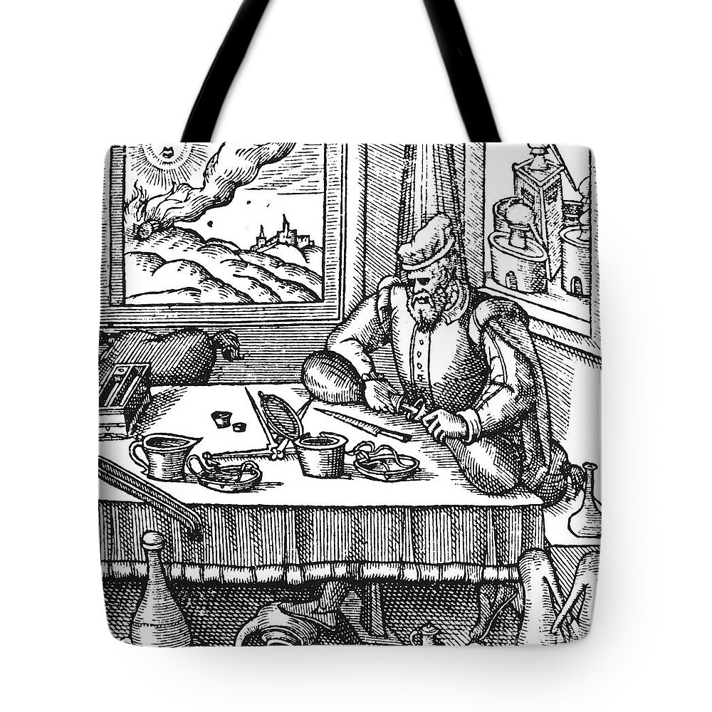 1576 Tote Bag featuring the photograph Physician, 1576 by Granger