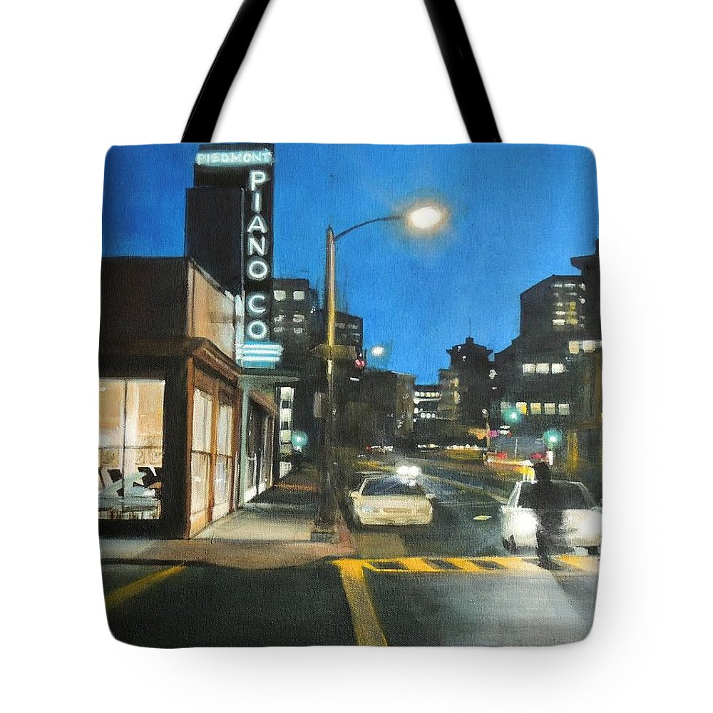 Night Tote Bag featuring the painting Piano Co by Marianne Bland