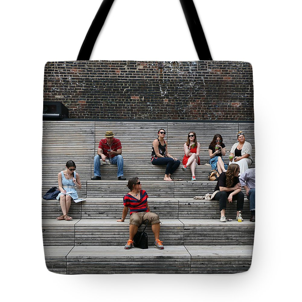 New Tote Bag featuring the photograph Piazza De High Line by Allen Beatty