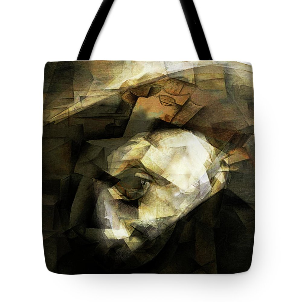 Pablo Picasso Tote Bag featuring the digital art Picasso by Fli Art