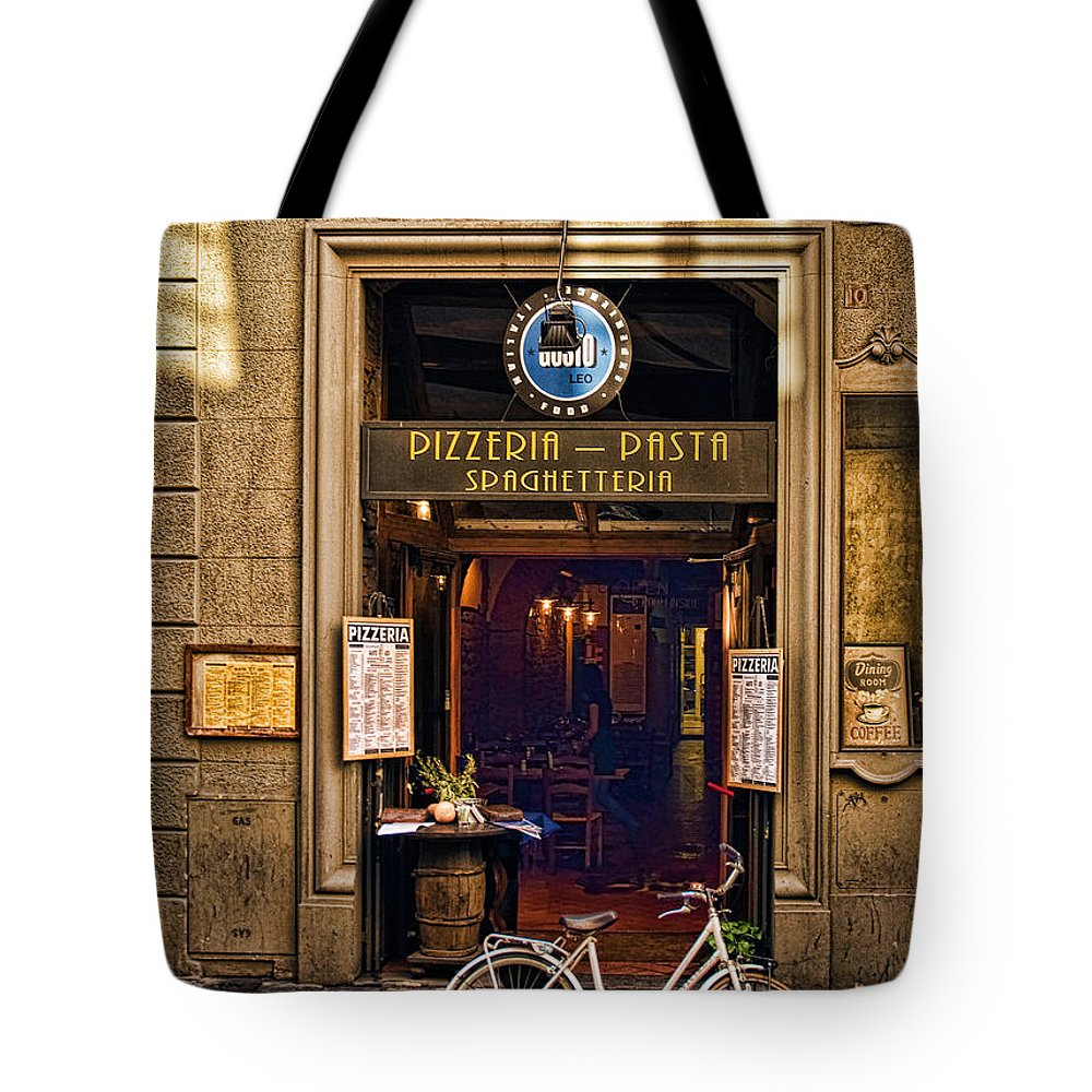 Florence Tote Bag featuring the photograph Pickup Or Delivery by Mick Burkey