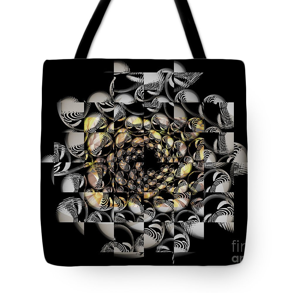 Fractal Art Tote Bag featuring the digital art Pictorial Confusion And Diffusion by Elizabeth McTaggart