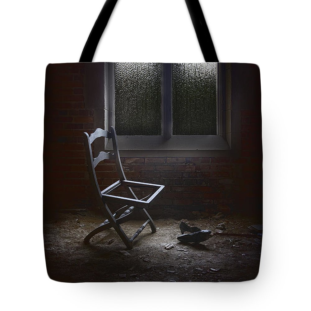 Chair Tote Bag featuring the photograph Pieces Of You by Margie Hurwich