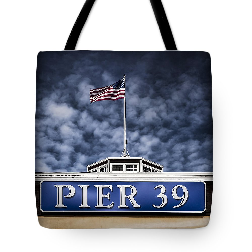 Pier 39 Tote Bag featuring the photograph Pier 39 by Dave Bowman