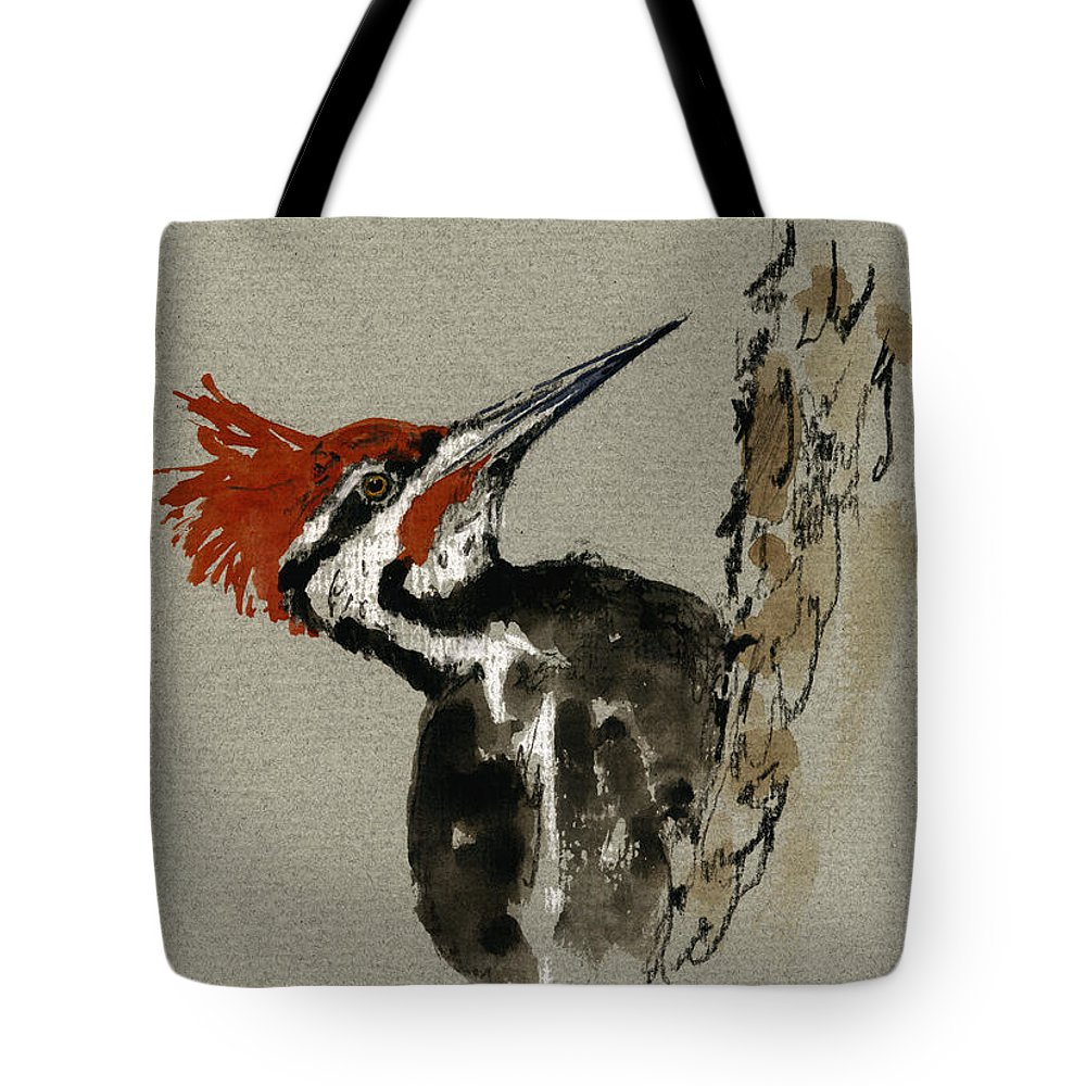 Woodpecker Tote Bags