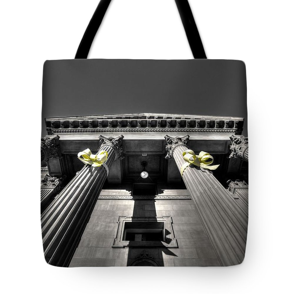 Architecture Tote Bag featuring the photograph Pillard by David Andersen