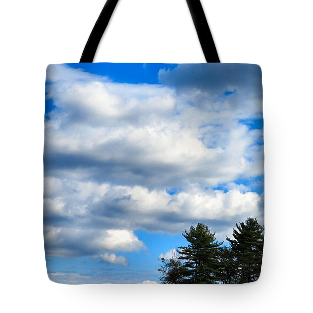 Sky Tote Bag featuring the photograph Pine Isand by Art Dingo