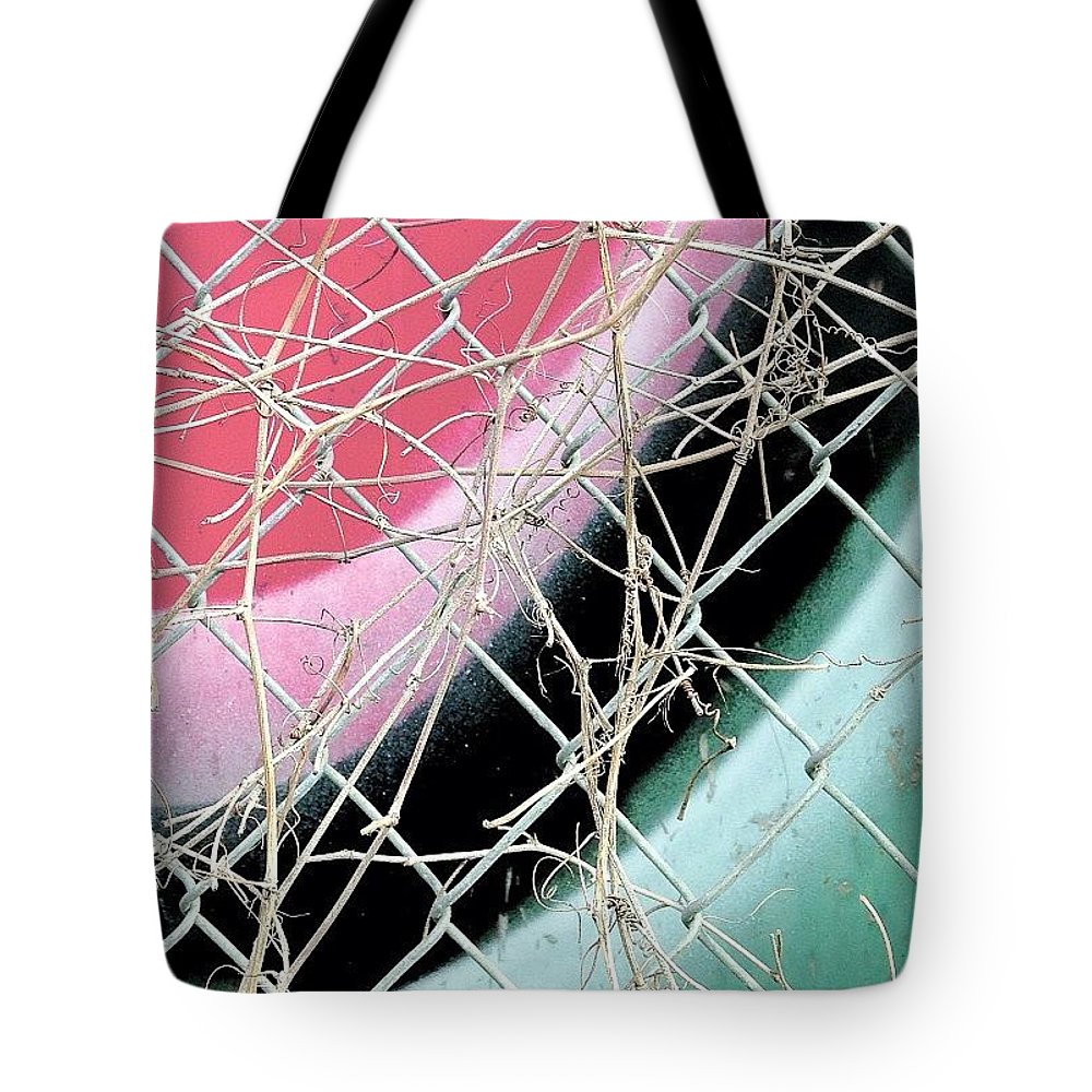 Jj_shapes Tote Bag featuring the photograph Pink and Blue Abstract by Julie Gebhardt