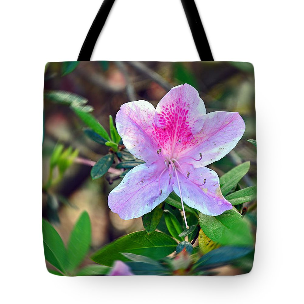 Floral Tote Bag featuring the photograph Pink Azalea by Deborah Good