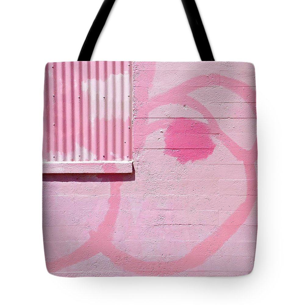#pink #graffiti #wall #colorful Tote Bag featuring the photograph Pink Detail by Julie Gebhardt