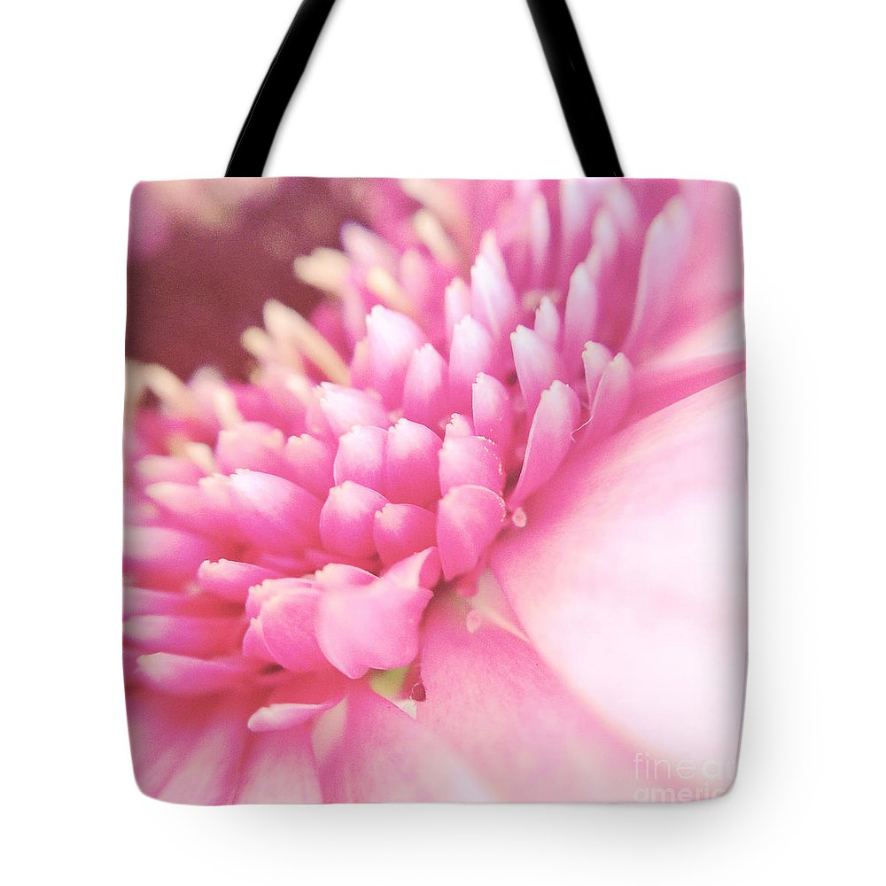 Photography Tote Bag featuring the photograph Pink Gerber Daisy by Ivy Ho